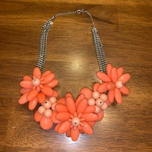 Coral Floral Chunky Necklace